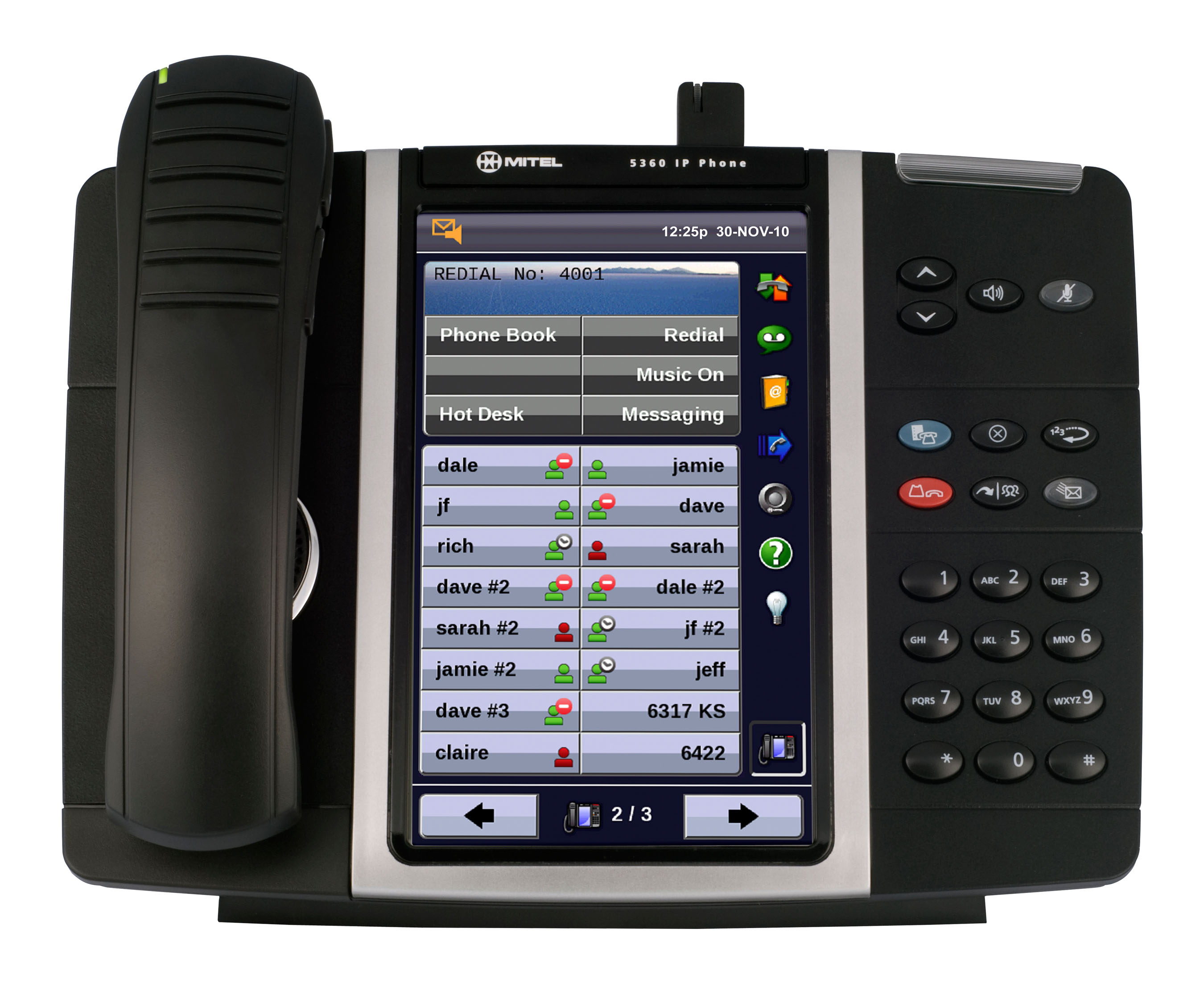 Mitel Model 5360 Color Touchscreen IP PBX Telephone